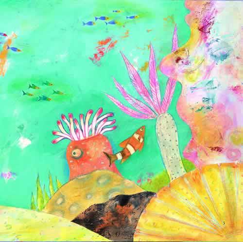小丑鱼油画棒动物画图片大全